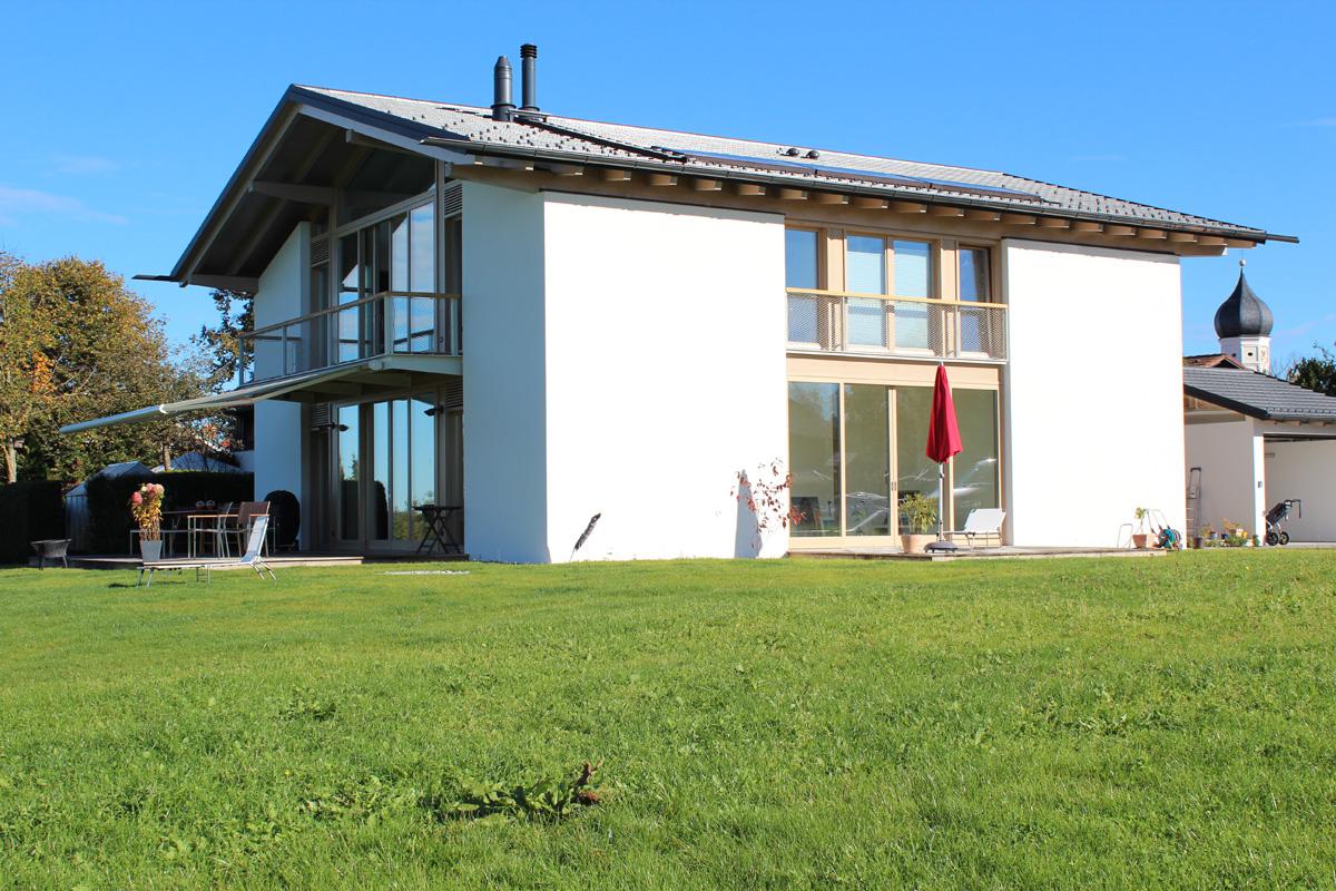 Malerarbeiten Aussenbereich eines Neubauprojektes, Oberbayern